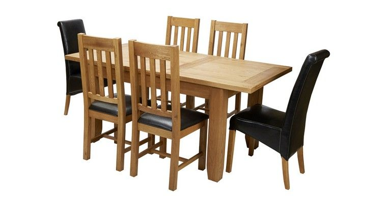 Parker Extending Dining Table & Set Of 4 Slat Back Chairs Parker Entrancing Dfs Dining Room Furniture Design Inspiration