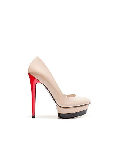 PATENT LEATHER PLATFORM COURT SHOE Shoes Woman New