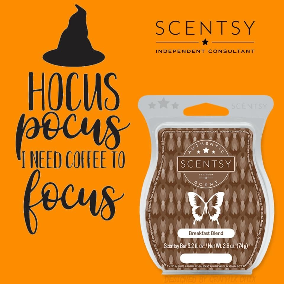 Hocus Pocus I need coffee to focus! Scentsy