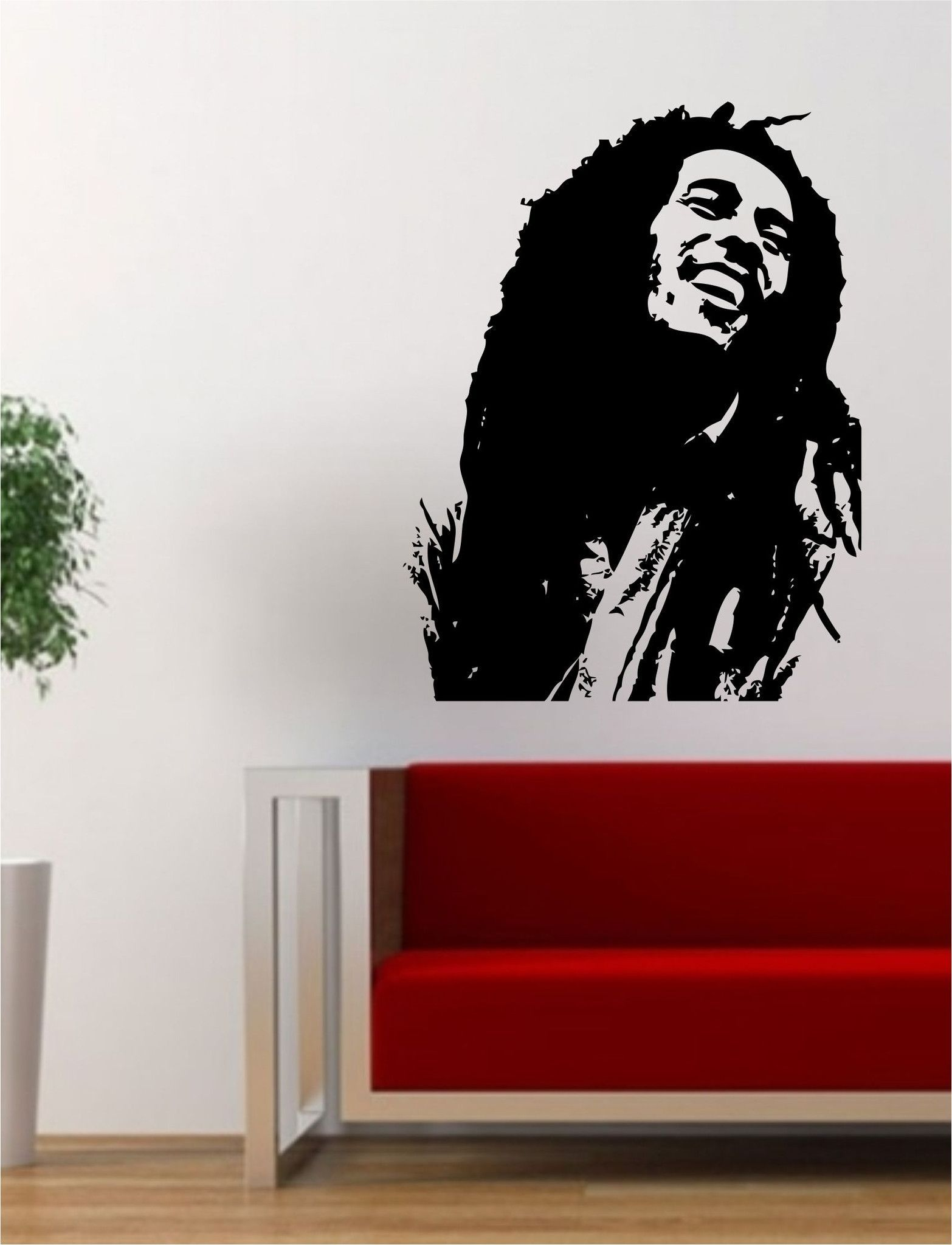 Bob marley version 1 people music reggae rasta decal sticker wall vinyl decor art