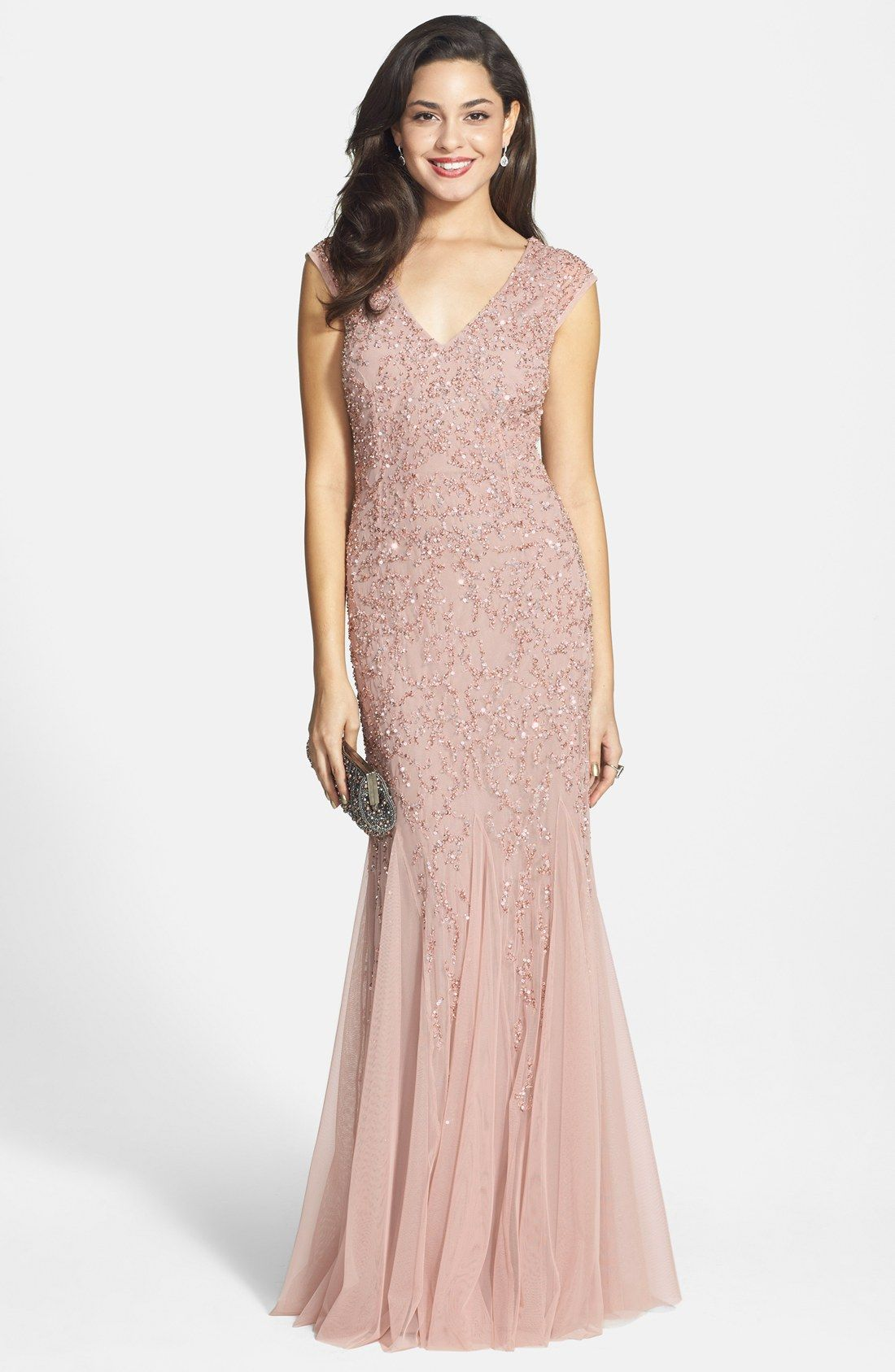 Aidan Mattox Beaded Cap Sleeve Gown | Remember for the Future ...
