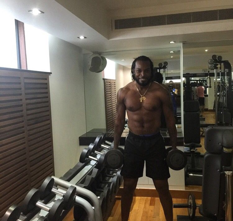 Big Man Hits The Gym Gayle Gym Workout Exercise Chrisgayle Cricketer Batsman Westindies Wi Fitness Secrets World Cup Steve Smith