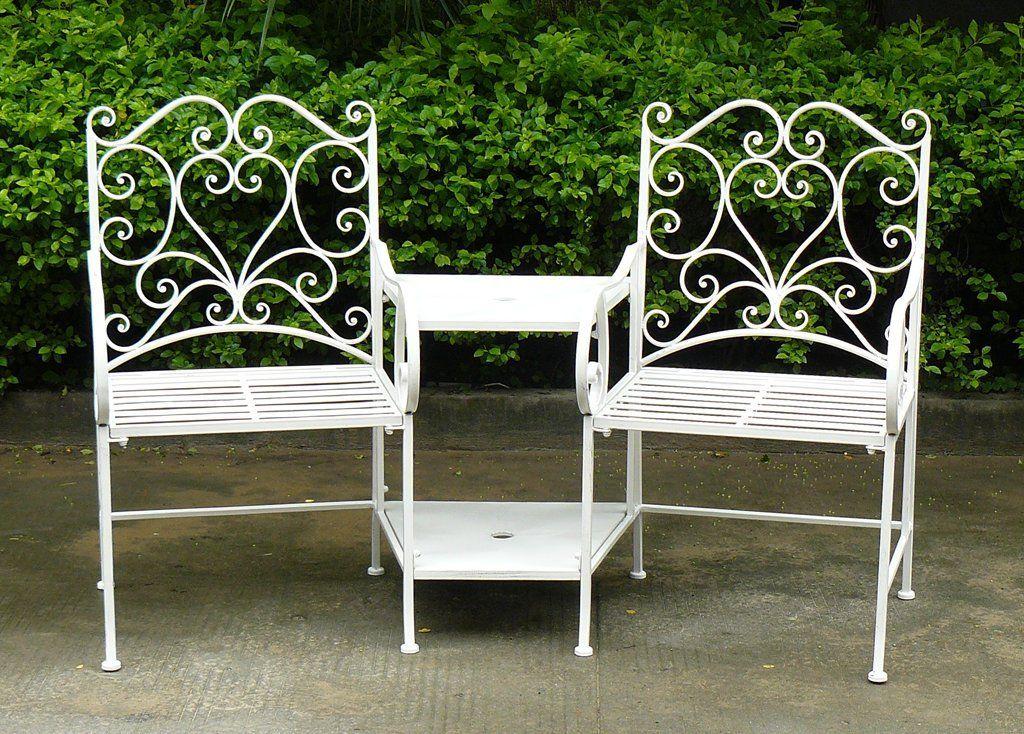 Surprising Charles Bentley Garden Heart Shaped Wrought Iron Companion Creativecarmelina Interior Chair Design Creativecarmelinacom