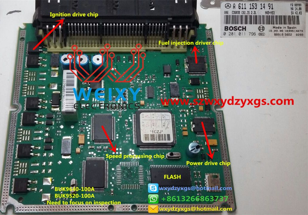 Benz A611 Ecu Chip Function Picture Devre Semasi Arabalar