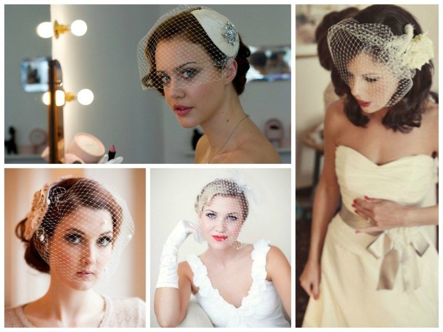 Vintage Wedding Hairstyles With Birdcage Veil Vintage Wedding Hair Half Up Wedding Hair Veil Hairstyles