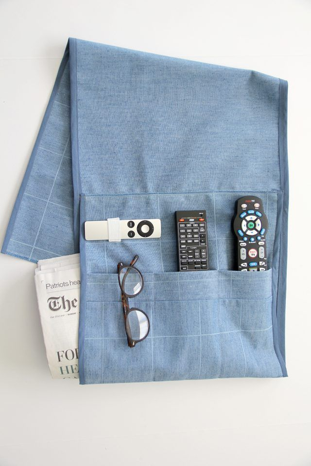 remote holder for chair best dining chairs how to make an arm crafts and diy sewing sew easy with this tutorial the perfect fabric caddy help you never lose your control again