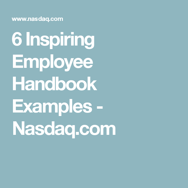 Inspiring Employee Handbook Examples  NasdaqCom  Neo