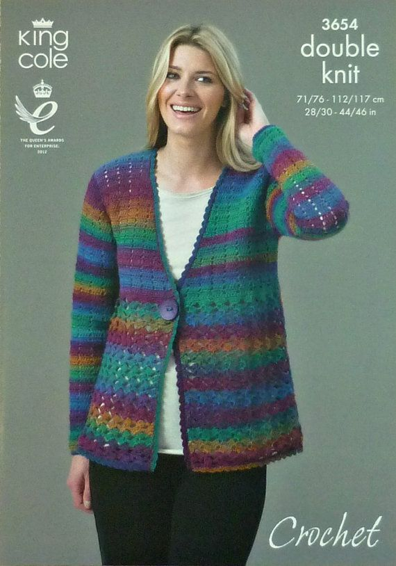 Womens Crochet Pattern C3654 Crochet Pattern Ladies V Neck Cardigan