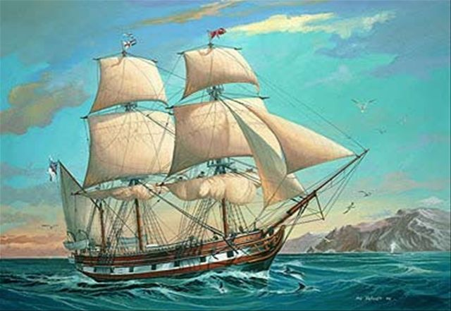 This Drawing Illustrated The Hms Beagle In Which Charles