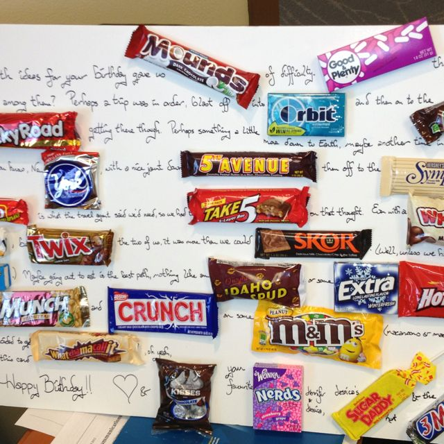 Great idea for Rory since he loves chocolate candy Dads 60th – Chocolate Birthday Cards