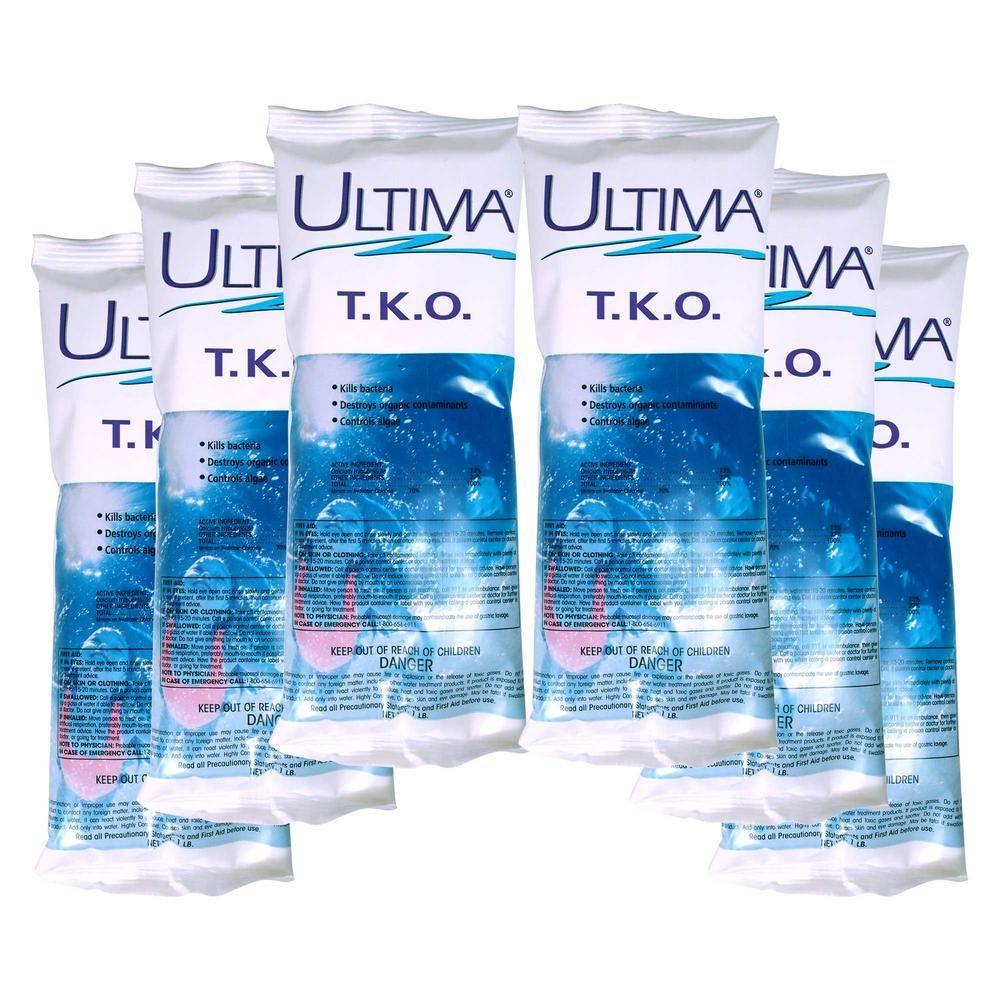 Ultima 1 Lb T K O Chlorinating Shock 6 Pack Shock Treatment Swimming Pools Pool Shock