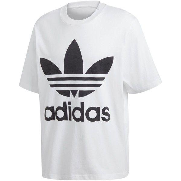 3a615e2c7 adidas Originals Men's adicolor Big Logo T-Shirt ($40) ❤ liked on Polyvore  featuring men's fashion, men's clothing, men's shirts, men's t-shirts,  white, ...