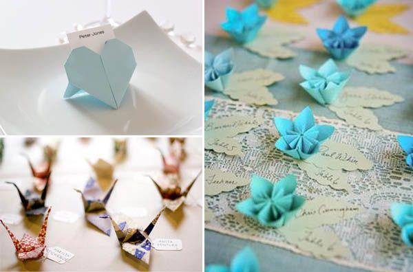 Origami Segnaposto Matrimonio.Matrimonio A Tema Origami Matrimoni A Tema Origami Matrimonio E