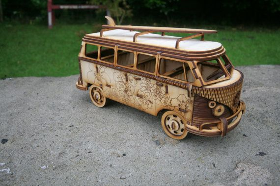 laser cut vw bus campervan camper van bulli pinterest holz holzarbeiten und modellbau. Black Bedroom Furniture Sets. Home Design Ideas
