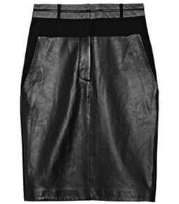 Leather-Paneled Wool-Blend Crepe Sk by Alexander Wang  # Matchesfashion