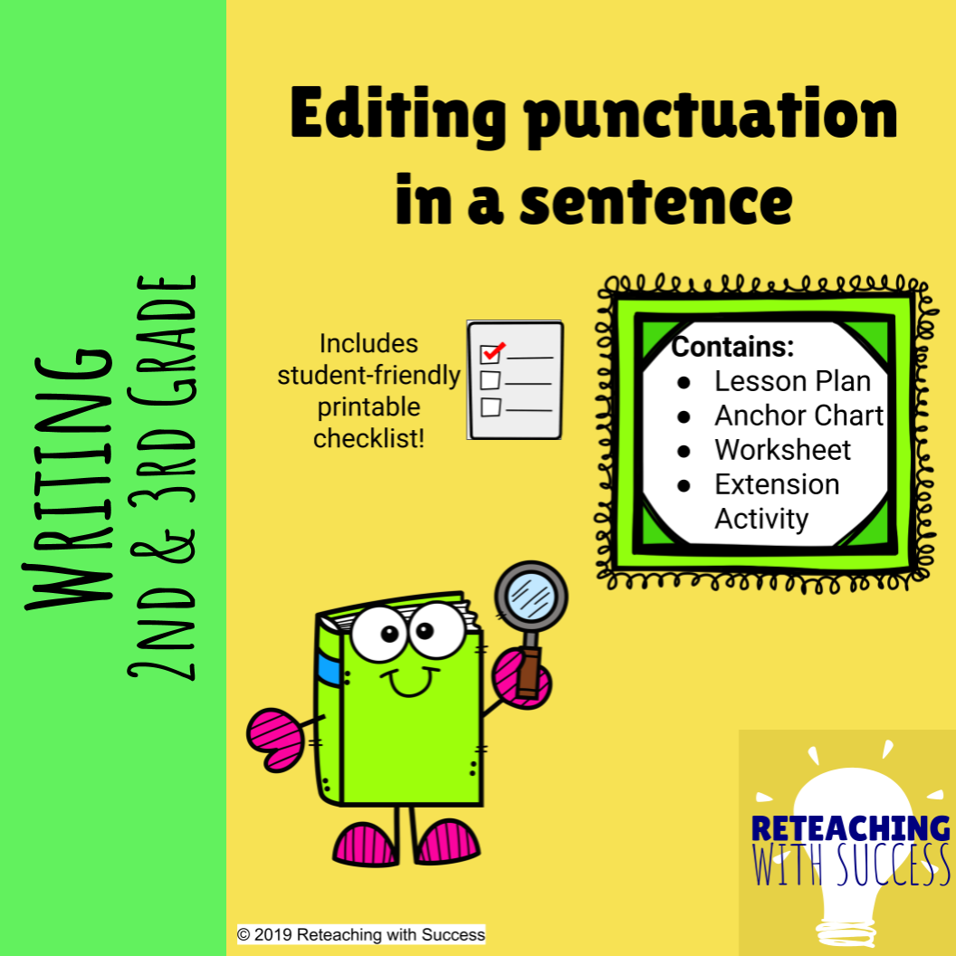 Editing Punctuation In A Sentence Ccss W 2 5 L 1 2 B L