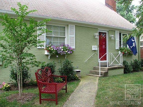 Ao House Tour Exterior After Exterior House Colors Green House Exterior House Paint Exterior