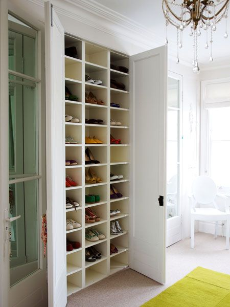 These Custom Made Cubbies Are Perfect For Storing Shoes In A