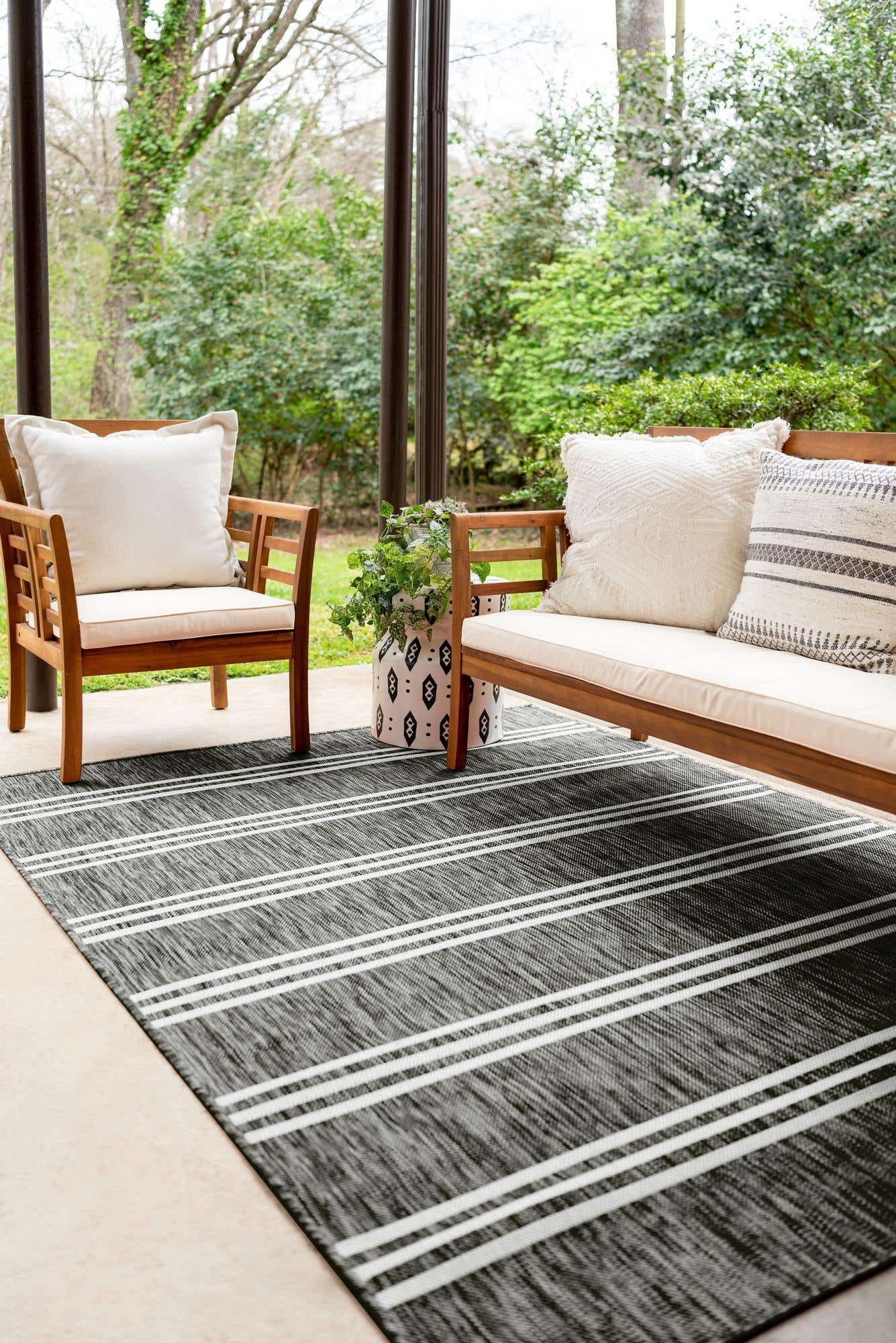 Charcoal Jill Zarin 9 X 12 Jill Zarin Outdoor Rug Rugs Com In 2020 Outdoor Rugs Jill Zarin Indoor Outdoor Area Rugs