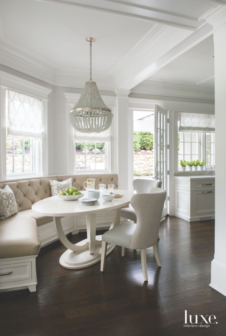 A Bright Breakfast Nook Dining Nook Home Dining Table Decor