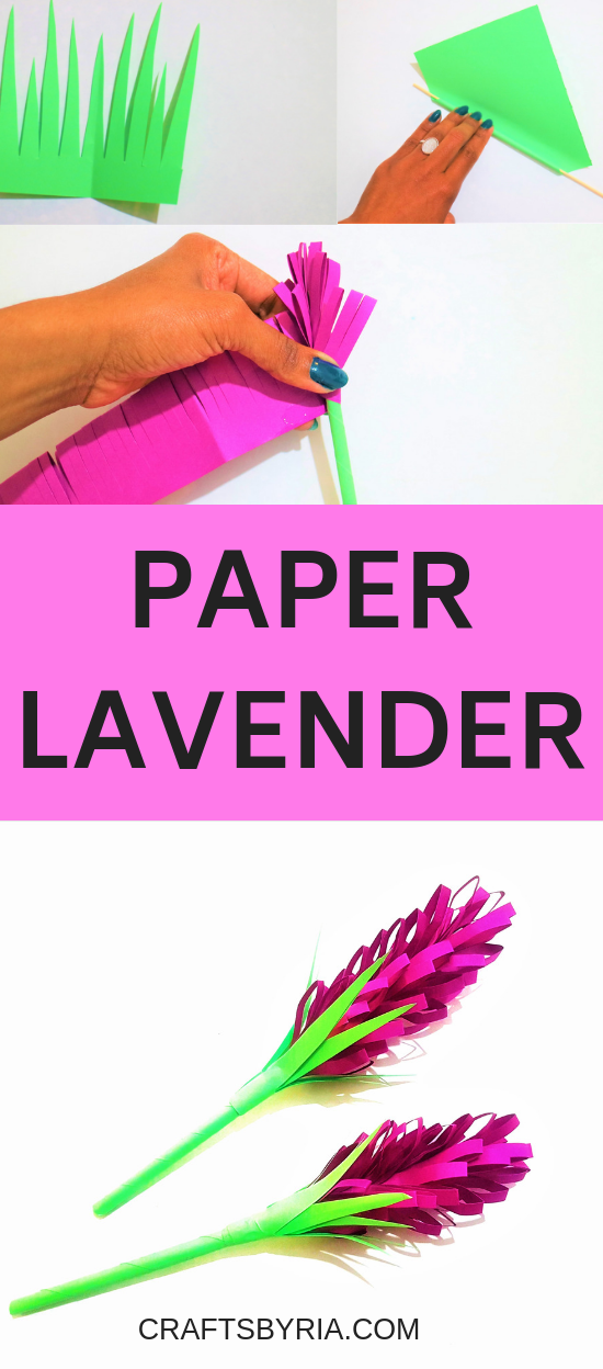 Paper Lavender How To Make Beautiful Paper Lavender Spring