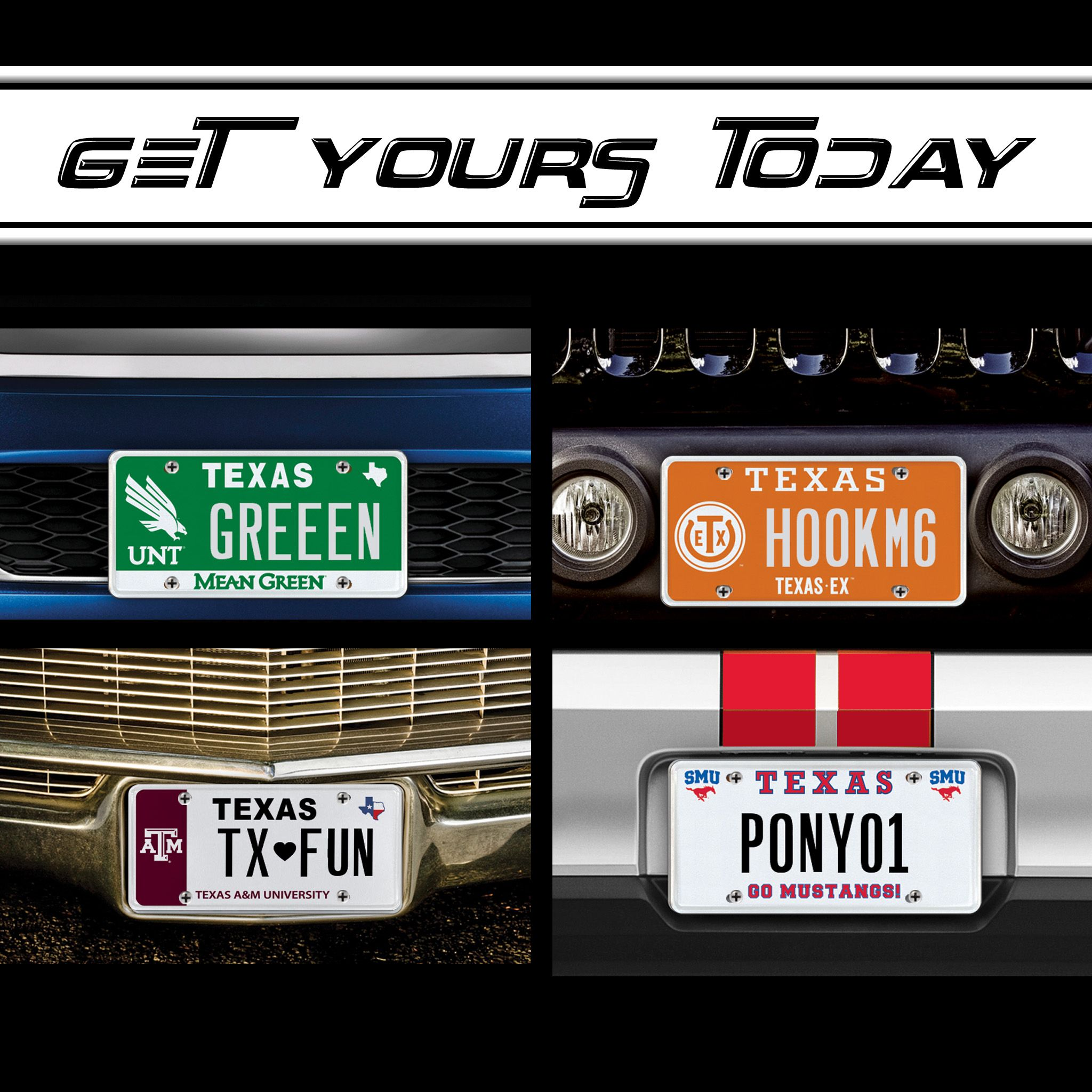 MyPlates official Texas license plates starting at $55 per year ...