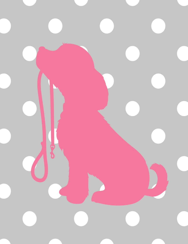 Puppy nursery decor custom colors puppy by theeducatedowl