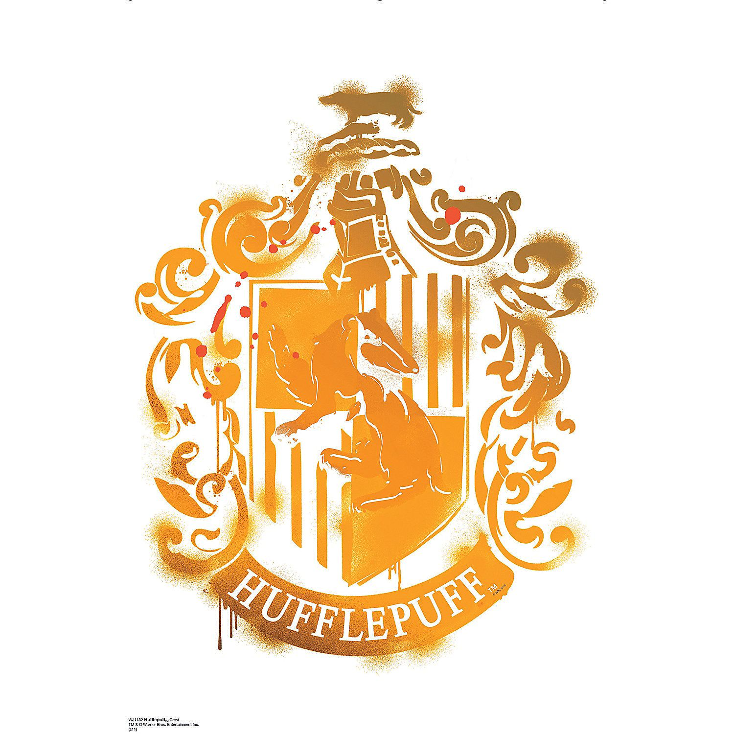 Hufflepuff Crest - Harry Potter 7 Wall Jammer™ Wall Decal   Harry ...