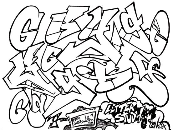 the graffiti letter g