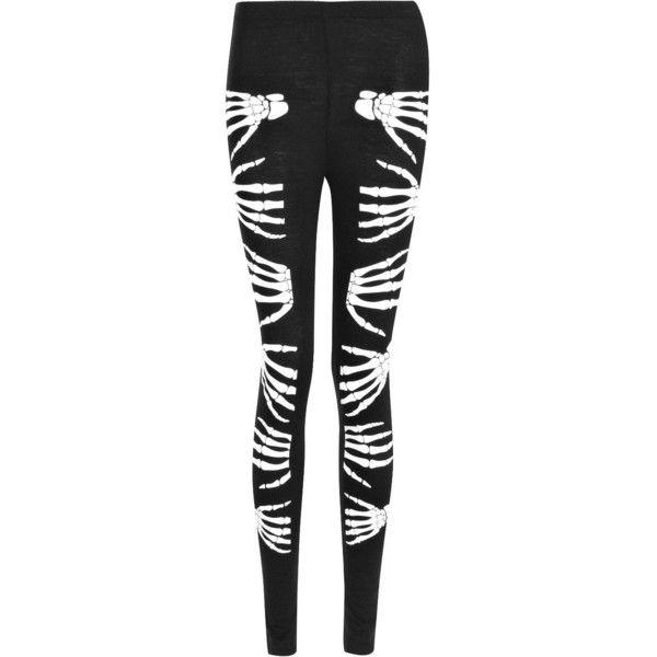 e0c85a638aa8 Boohoo Halloween Yanni Skeleton Hand Leggings (€9,19) ❤ liked on Polyvore  featuring pants and leggings