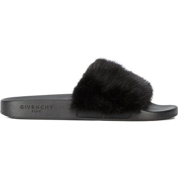 b61ec0fa9d10 Givenchy mink fur strap sandals (28