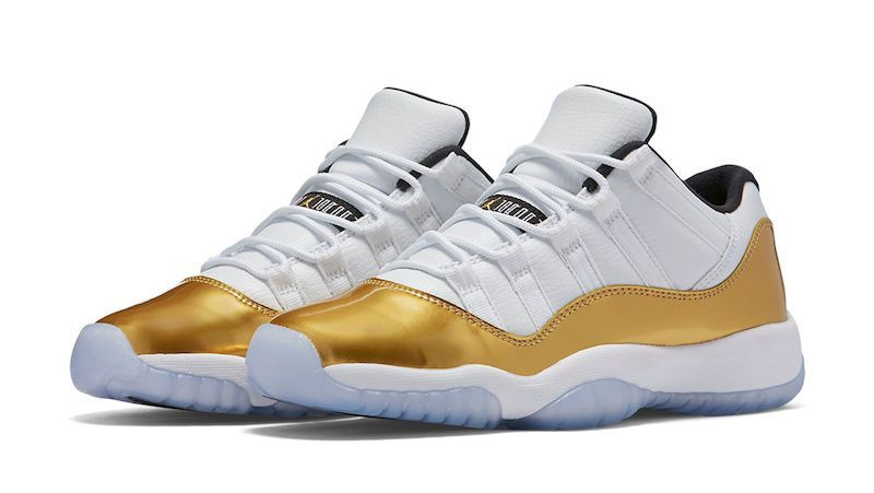 Nike Air Jordan XI Retro 11 Low Closing Ceremony 2016 Olympic Gold  528896-103… dddd98887