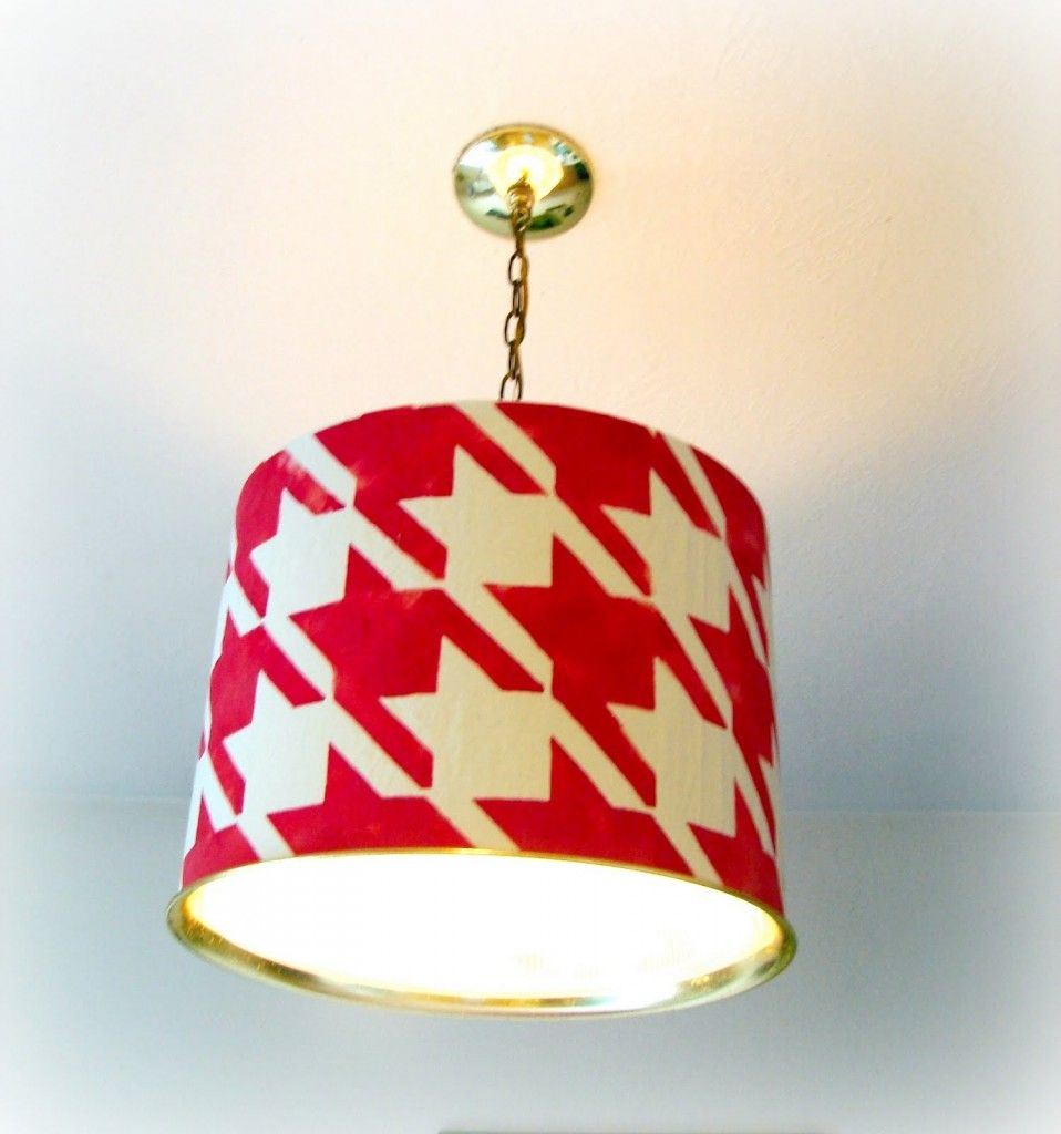 red houndstooth lamp shade | Lighting | Pinterest ...