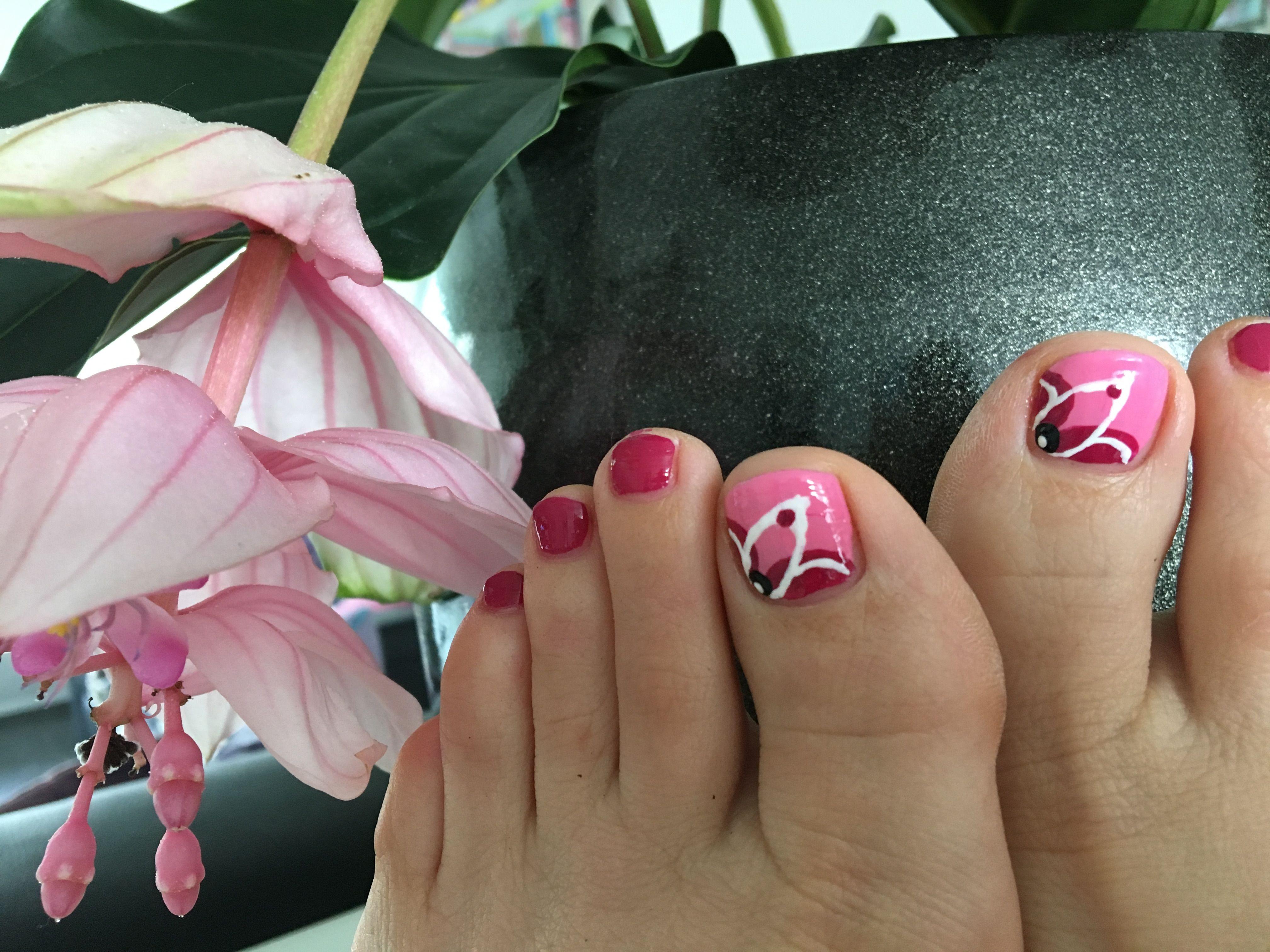 Roze nagels