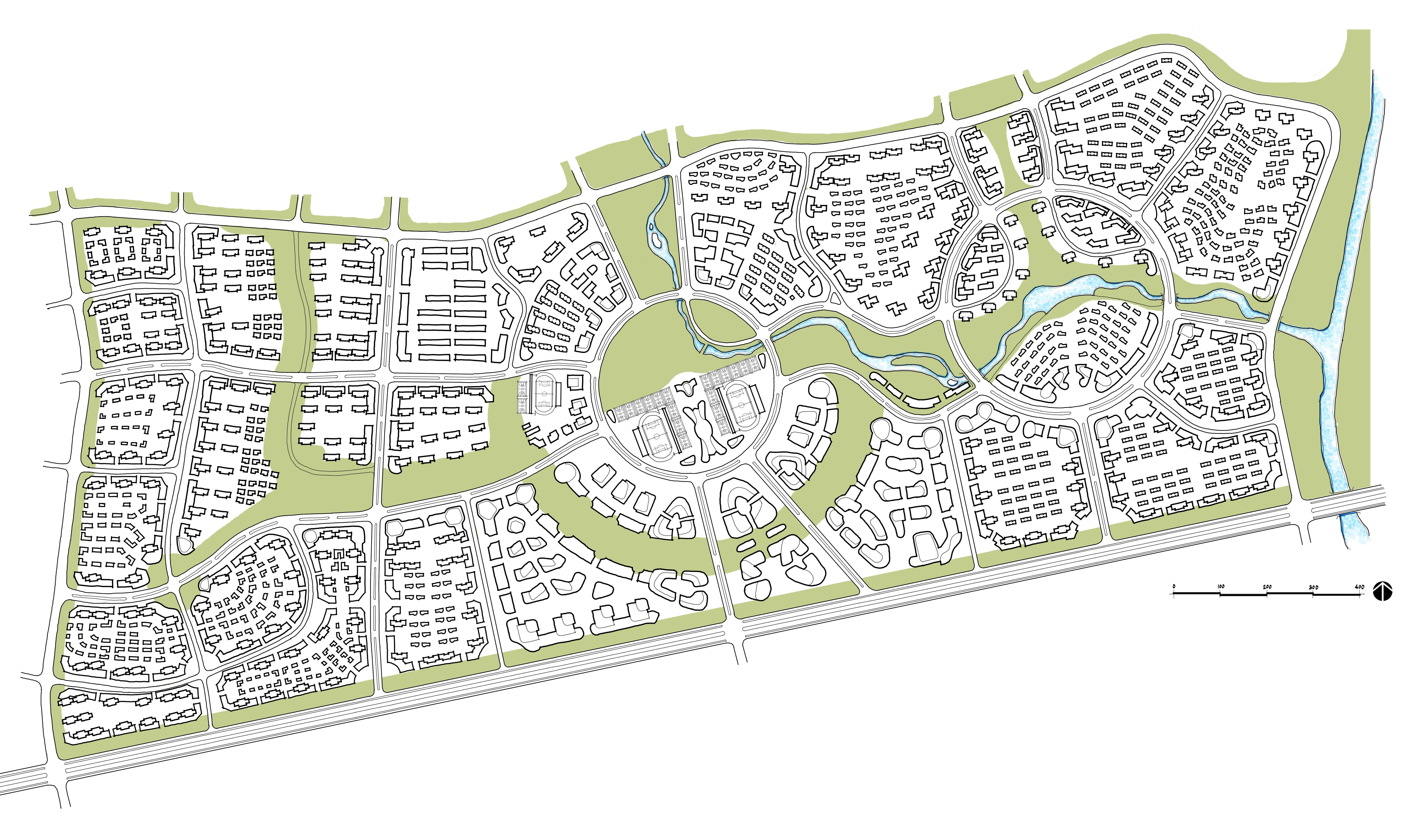 Urban Design Concept Green Connector School Master Plan Urban Design Concept Urban Design Urban Design Graphics