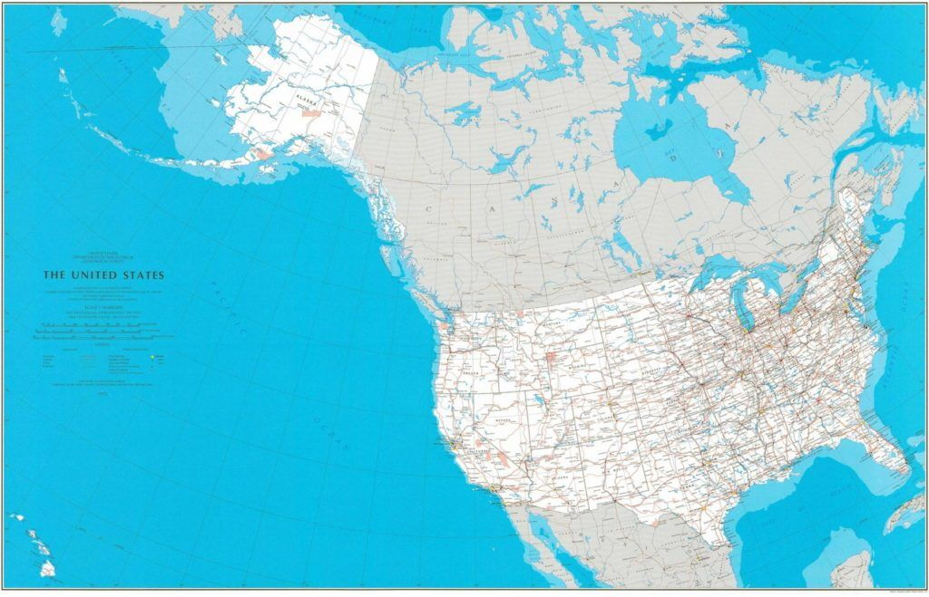 This is a map of the United States without insets. Published ...