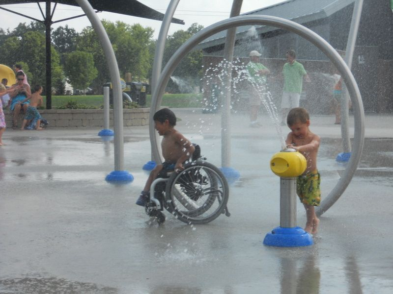 Children love the splash pad at taylors dream inclusive