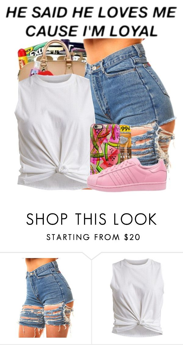 """"""""""" by daddyteex3 ❤ liked on Polyvore featuring VILA, Casetify and adidas Originals"""