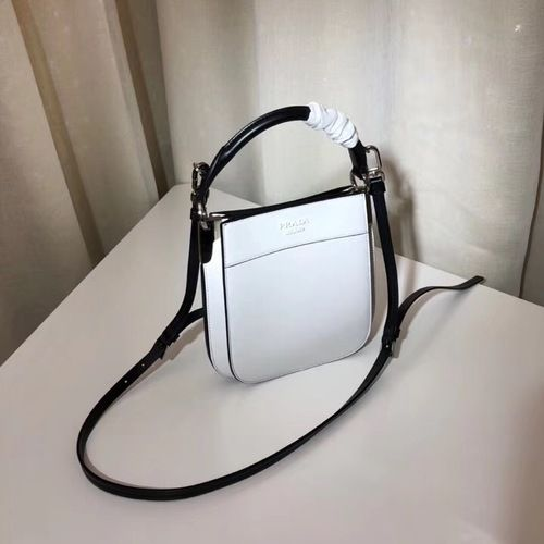 18fedd4266e3 Prada Margit Small leather bag White/Black #SS2019 #onlineshopping  #discountbag #designerbag