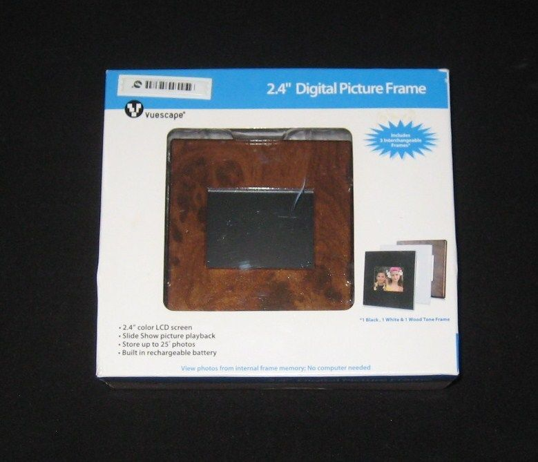 Vuescape 24 Color Lcd Digital Picture Frame 3 Interchangeable