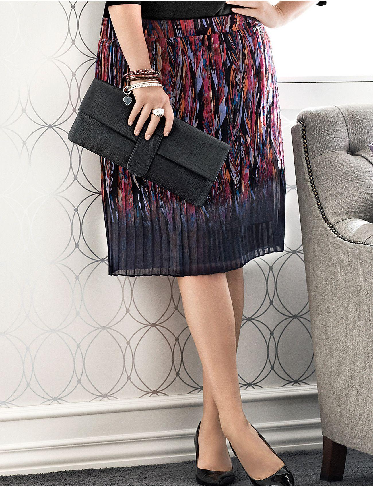 512cc3a7349 Plus Size Feather Print Skirt by Lane Bryant