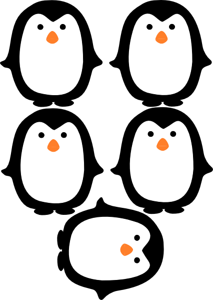 Geeky image with penguin template printable