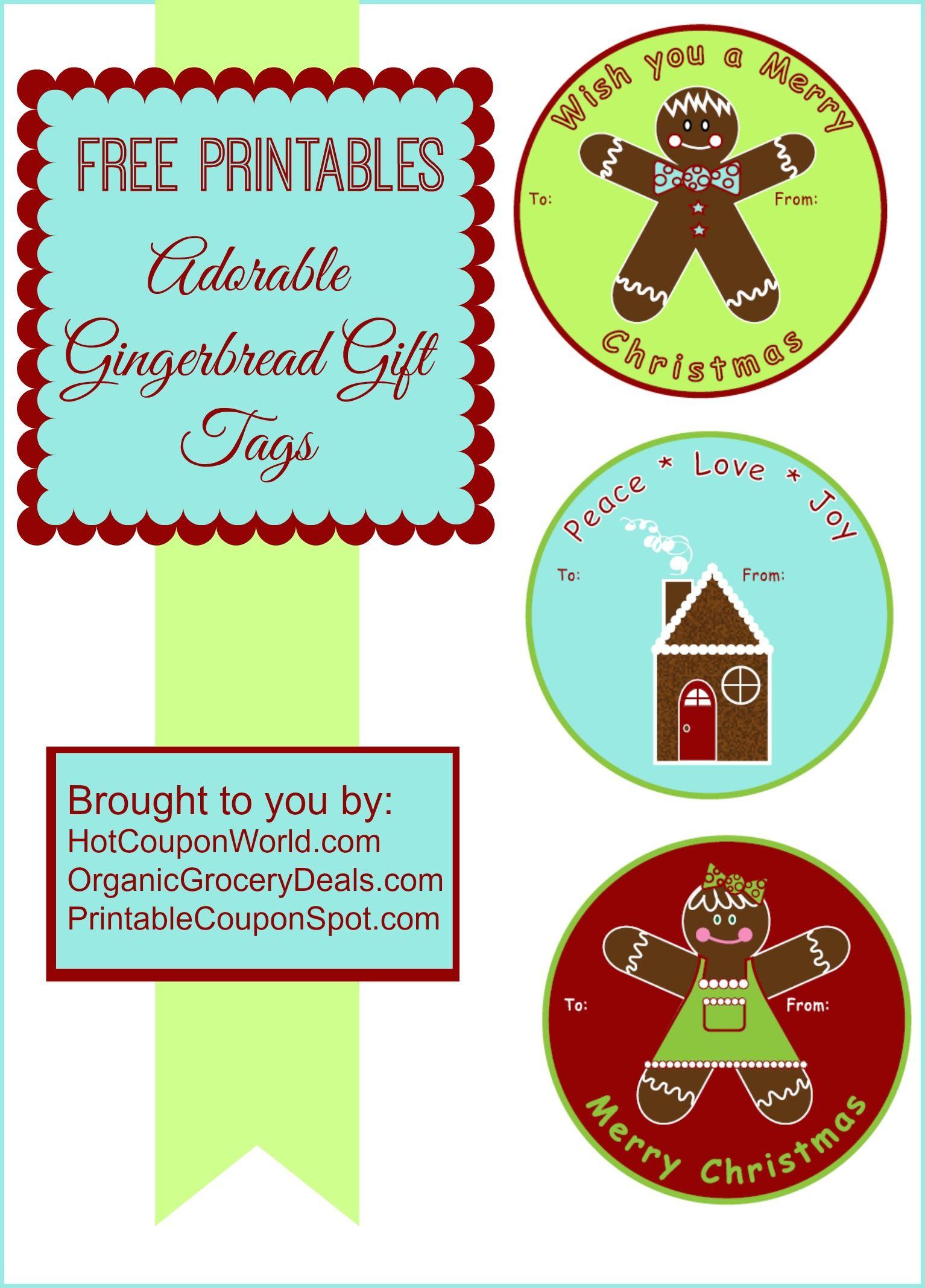 Free Printable: Adorable Gingerbread Gift Tags #Printable #Christmas ...