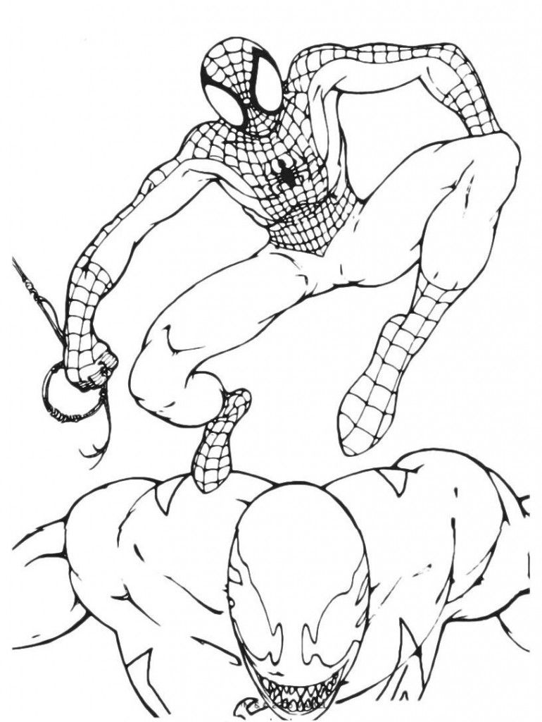 Coloring Pages For Spiderman   house fence   Pinterest   Spiderman