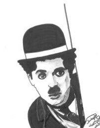 Rostro de Charly Chaplin