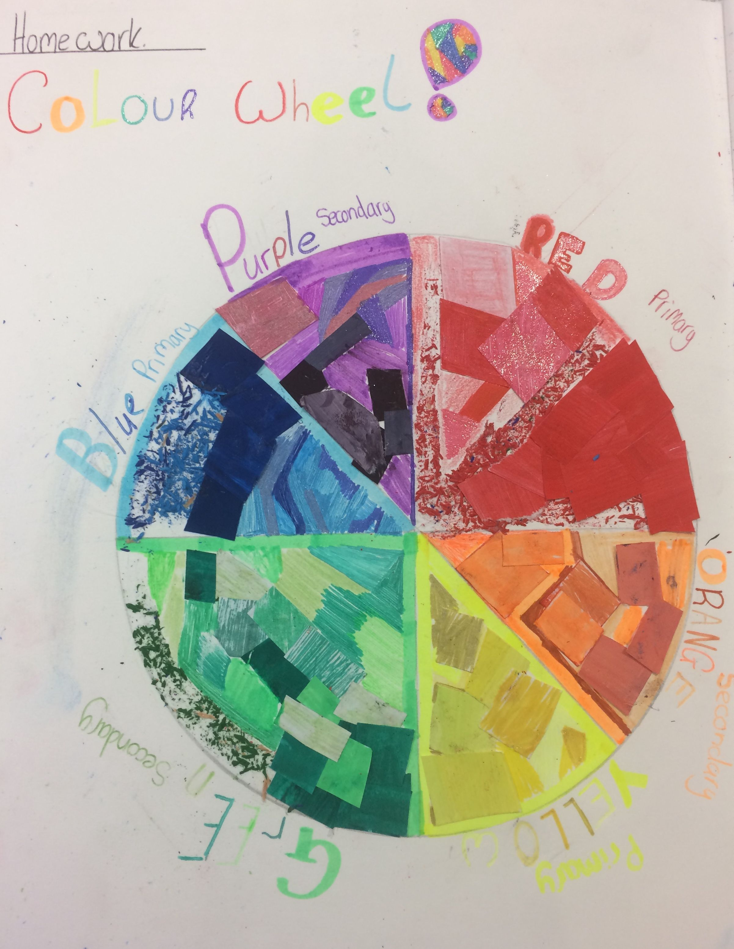 Ruby Collage Colour Wheel Homework Task For The Y8 Fauvism