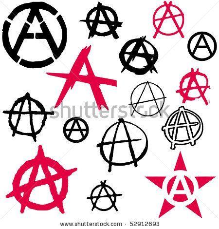 Set Of Anarchy Symbol Icon Vector Illustration Anarchy Symbol Anarchist Tattoo Anarchy