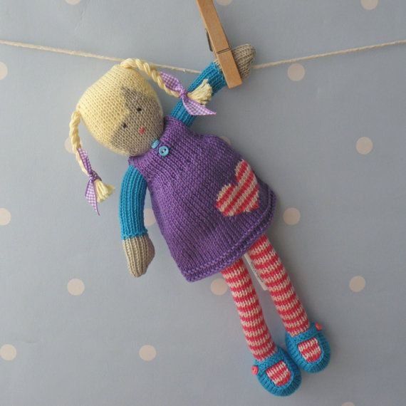 Livie++Hand+knitted+doll+by+BooBiloo+on+Etsy