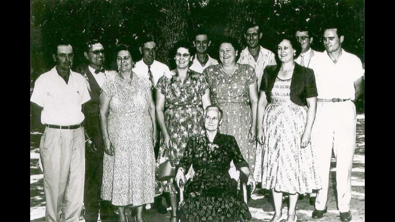 My great grandmother and her 11 children