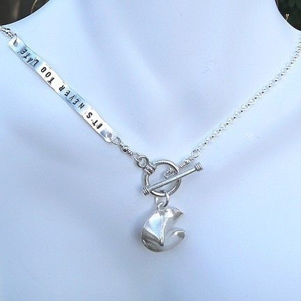 Personalized Fortune Cookie Necklace Mother/'s Day Gift Sterling Silver Hand Stamped Custom Necklace